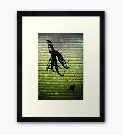 At the bottom of the cardboard sea  Framed Print