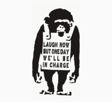 Banksy Monkey best Qoute One Piece - Short Sleeve
