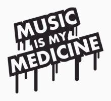 Music Is My Medicine Graffiti T-Shirt