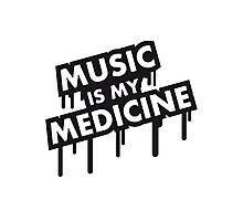Music Is My Medicine Graffiti Photographic Print