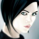 Charlize Theron as Aeon Flux [iPhone / iPod case / Print] by Damienne Bingham