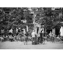 Barcelona street entertainers Photographic Print