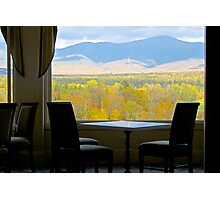 A Table With a View Photographic Print