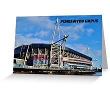 Stadiwm y Mileniwm - Cerdyn Penblwydd Greeting Card