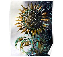 Abstract SUNFLOWER Art, Beautiful, Deep, Rich, Meaningful Scarpace Original Design Poster