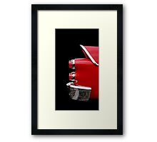 One Rear (red) Framed Print