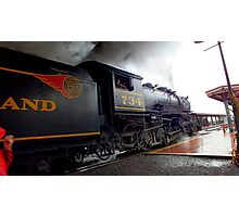 Steam Engine,Thunder Mountain, Entering the Station Photographic Print