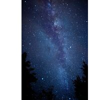 Milky Way Galaxy Time Lapse Photographic Print