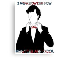Sherlock (BBC) declaration for bowties Canvas Print