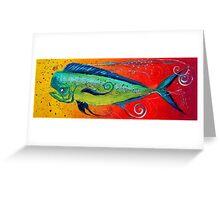 MAHI MAHI, Colorful, FUN, Abstract Fish Art Original Design from J. Vincent, MUST SEE, BEAUTIFUL Greeting Card