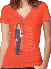 River Song Quote Women's Fitted V-Neck T-Shirt