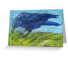 Grazing Crow Greeting Card