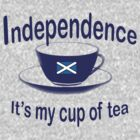 Scottish Independence My Cup of Tea Tee by simpsonvisuals
