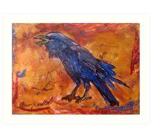Crow Knows Art Print