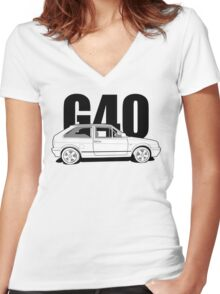 Polo G40 - Side Women's Fitted V-Neck T-Shirt