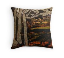 paper trees & pod birds  Throw Pillow