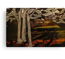 paper trees & pod birds  Canvas Print