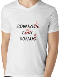 ROMANI ITE DOMUM Mens V-Neck T-Shirt
