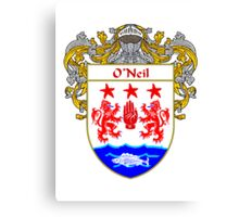 O'Neil Coat of Arms / O'Neil Family Crest Canvas Print