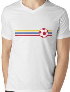 Football Stripes Colombia Mens V-Neck T-Shirt