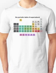 The Periodic Table Of Supernatural T-Shirt