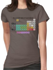 The Periodic Table Of Supernatural Womens Fitted T-Shirt