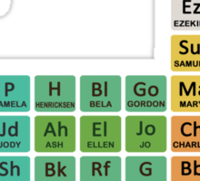 The Periodic Table Of Supernatural Sticker