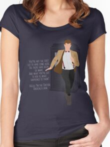 11th Doctor - Basically, Run! Quote Women's Fitted Scoop T-Shirt