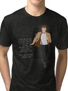 11th Doctor - Basically, Run! Quote Tri-blend T-Shirt