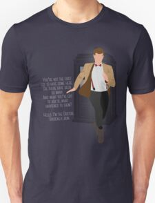 11th Doctor - Basically, Run! Quote T-Shirt