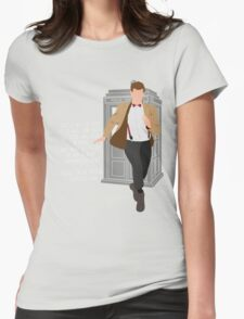 11th Doctor - Basically, Run! Quote Womens Fitted T-Shirt