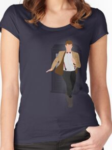 11th Doctor - Basically, Run! Women's Fitted Scoop T-Shirt