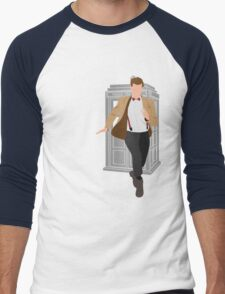11th Doctor - Basically, Run! Men's Baseball ¾ T-Shirt