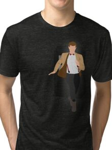 11th Doctor - Basically, Run! Tri-blend T-Shirt