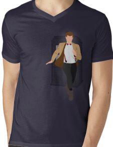11th Doctor - Basically, Run! Mens V-Neck T-Shirt