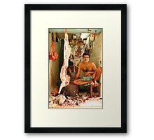 Indian Butcher Framed Print