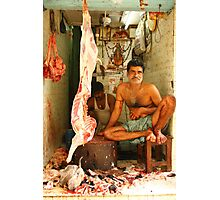 Indian Butcher Photographic Print