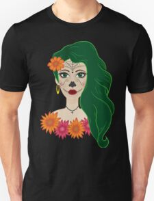 Sugar skull girl Unisex T-Shirt