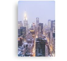 Winter Morning Overlooking the New York City Skyline Canvas Print