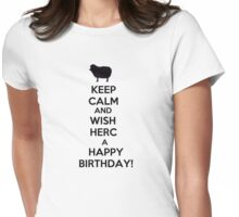 HAPPY BIRTHDAY, HERC! Womens Fitted T-Shirt
