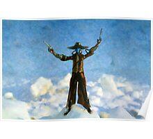 The Gunslinger Blue Poster