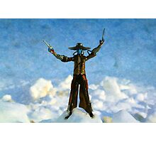 The Gunslinger Blue Photographic Print