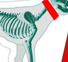 DOG & TRAFFIC RUBBER CONE Sticker
