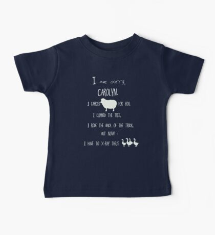 but now - I have to x-ray these geese! /on dark colours/ Baby Tee