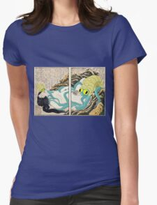 Diving Woman and Omastar Womens Fitted T-Shirt