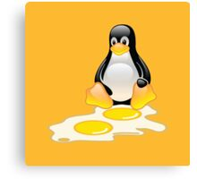 LINUX TUX PENGUIN TWINS SUNNYSIDE UP  Canvas Print