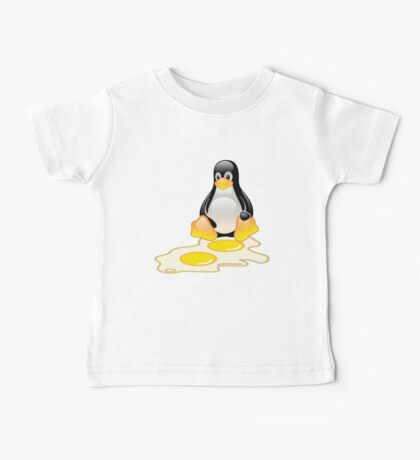 LINUX TUX PENGUIN TWINS SUNNYSIDE UP  Baby Tee