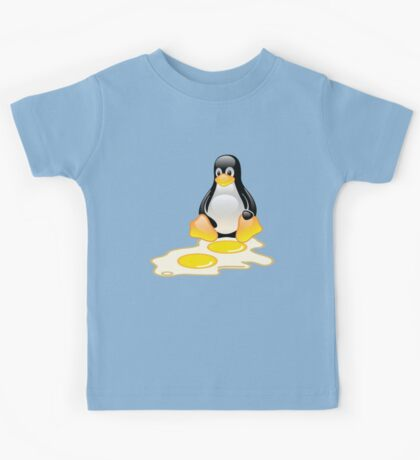 LINUX TUX PENGUIN TWINS SUNNYSIDE UP  Kids Tee