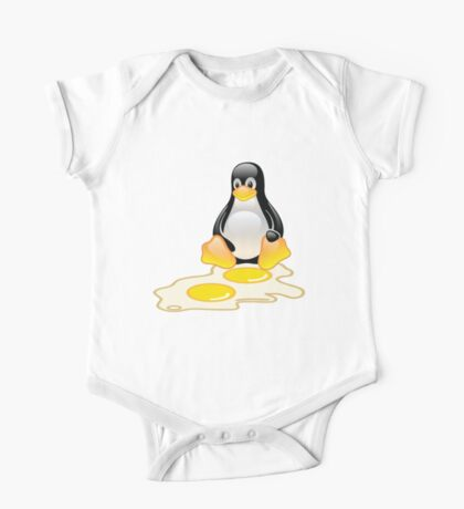 LINUX TUX PENGUIN TWINS SUNNYSIDE UP  One Piece - Short Sleeve