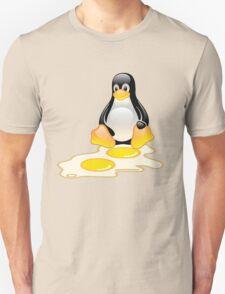 LINUX TUX PENGUIN TWINS SUNNYSIDE UP  T-Shirt